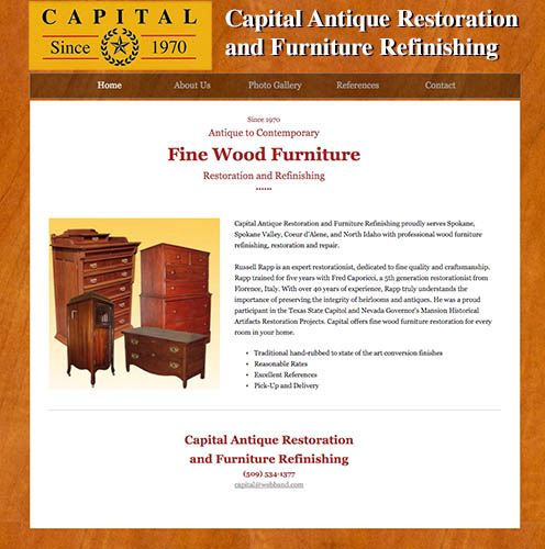 Antique Furniture Restoration Website